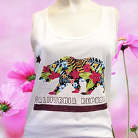 California Republic Floral Tank-Top