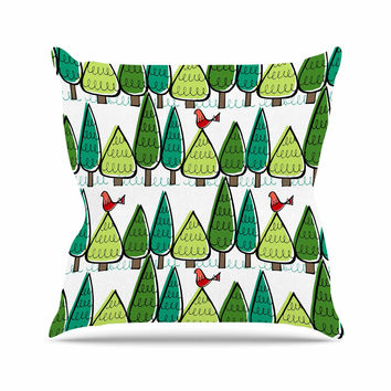 "Holly Helgeson ""Vintage Christmas"" Holiday Pattern Outdoor Throw Pillow"