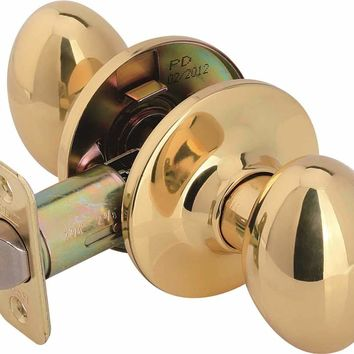 Legend Passage Egg Knob Polished Brass