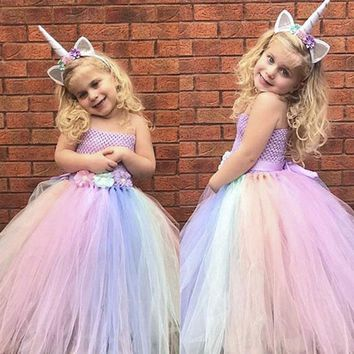 2018 Stunning Custom Princess Full Rainbow Unicorn Tutu Pre-Order