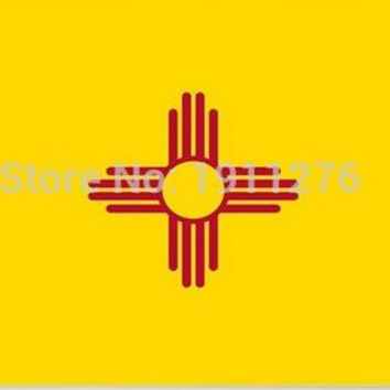 3x5ft  High quality New fashion  United State American Banner State of New Mexico flag Digital Printing 100D
