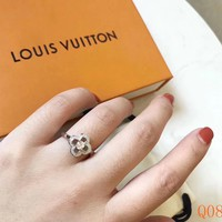 HCXX 19Sep 029 Louis Vuition Full diamond four-leaf Clover Classic Ring