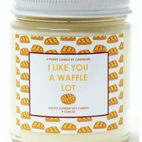 I Like You A Waffle Lot Candle, PRE-ORDER, SHIPS LATE FEBRUARY