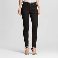 Women's Mid-rise Skinny Jeans (Curvy Fit) Black - Mossimo™