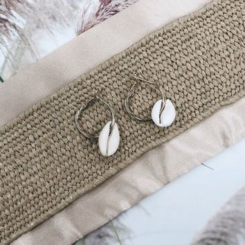 Why Not Dainty Seashell Gold Hoops