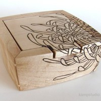 ANTHEmon Maple Jewelry Box with flip-top | kampstudio - Woodworking on ArtFire