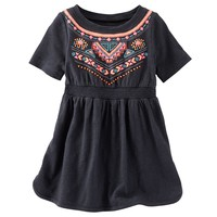 OshKosh B'gosh Puff-Print Bodice Dress - Baby Girl, Size: