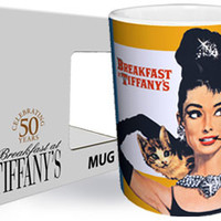 Breakfast at Tiffany's Cat Mugs | Movie Star Coffee Cups | RetroPlanet.com