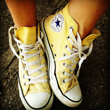 Converse All Star Sneakers High-Top Leisure shoes Adult Leisure shoes Yellow