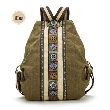 Tribal Ethnic Embroidered Floral Backpacks