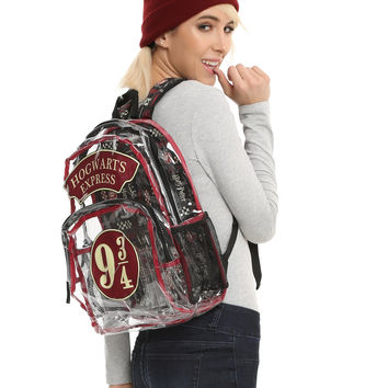 Harry Potter Clear 9 3/4 Hogwarts Express Backpack