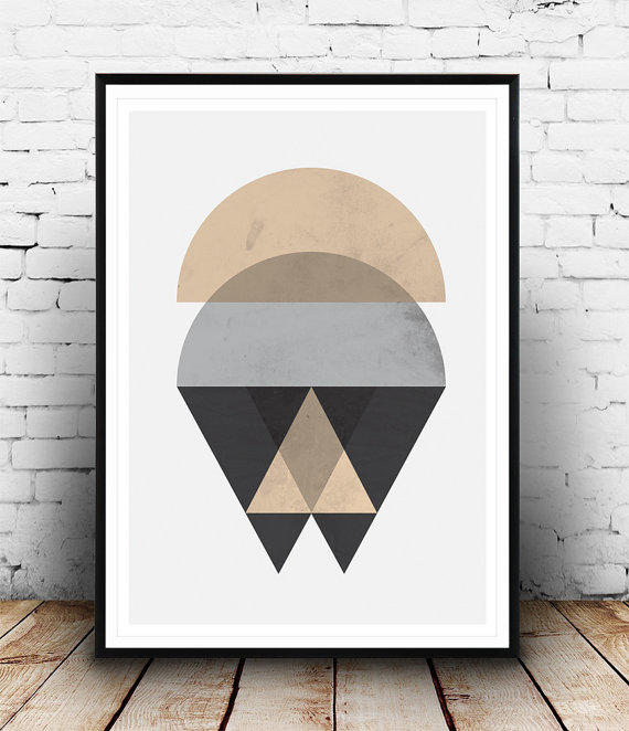 Scandinavian design, geometric abstarct, from Wallzilla on ...