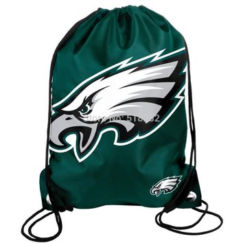 Philadelphia Eagles Drawstring Backpack Bags 35x45cm Sports Team