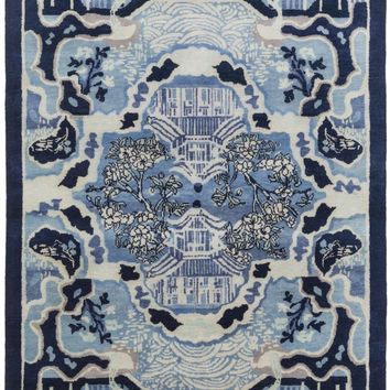 Geisha Area Rug Blue