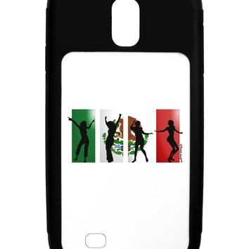 Mexican Flag - Dancing Silhouettes Galaxy S4 Case  by TooLoud