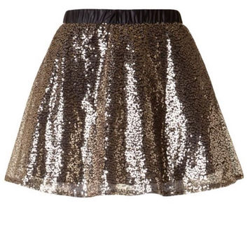 All That Glitters Sequin Skater Skirt