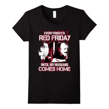 Red military shirt - Red Fridays husband veteran tee