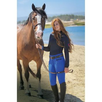 Romfh Ladies Isabella Full Grip Breeches - Periwinkle
