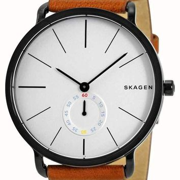Skagen Mens SKW6216 Hagen Brown Leather Watch