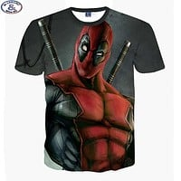 Deadpool 3D printed t-shirt boys big kids teens t shirt children tops