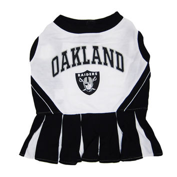 Mirage Pet Products Puppy Dog Cat Costume Oakland Raiders Sports Team Logo Cheer Leading Uniform MD