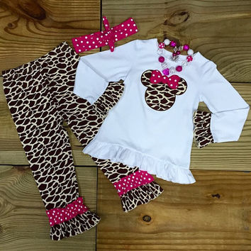 Minnie Mouse Inspired Giraffe Outfit