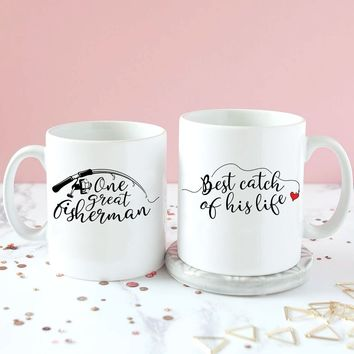 Wife Was The Best Catch Of His Life Mugs - VAL-07-08
