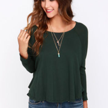 Obey Drifter Forest Green Long Sleeve Top