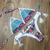 Hot New Arrival Beach Swimsuit Summer Sexy Tassels Stylish Swimwear Bikini [10603724047]