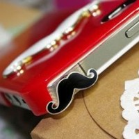 Cute Mustache 3.5mm Earphone Jack Dustproof Plug Ear Dust Cap for iPhone 5 4 4S: Cell Phones & Accessories