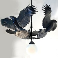 Reverence For Raven Chandelier by Jason Tennant by jasontennant