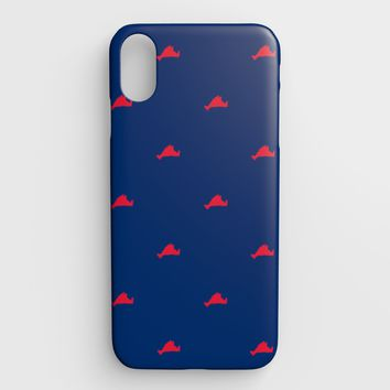 Martha's Vineyard Cell Phone Case iPhone XS Max - Red on Blue