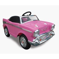 Kid Motorz Chevy Bel Air 1-Seater 12-Volt Ride-On in Pink