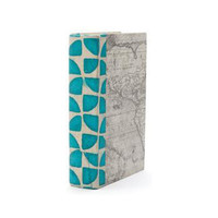 Turquoise Pinwheel Decorative Book