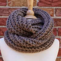 Infinity Scarf - Chunky Knit - Circle Scarf - Knit Scarf - Chunky Scarf - Christmas Gift - Crochet Scarf - Crochet Cowl - Knit Cowl - Ribbed