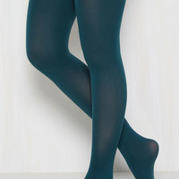 Accent Your Ensemble Tights in Peacock | Mod Retro Vintage Tights | ModCloth.com