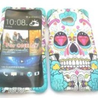htc one M7 Sugar Skulls Diamond Eye Trend Fashion Design Full case Cover Front&Back