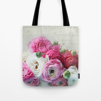 Ranunculus still life Tote Bag by sylviacookphotography