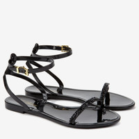 Ankle strap jelly sandal - Black | Shoes | Ted Baker