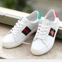 GUCCI Stripe Bee sports shoes casual shoes H-MDTY-SHINING