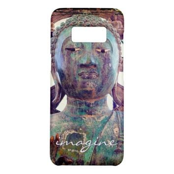 """Imagine"" Quote Asian Turquoise Statue Head Photo Case-Mate Samsung Galaxy S8 Case"