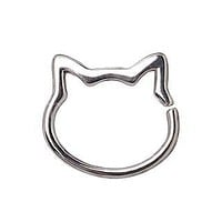 316L Stainless Steel Cat Seamless Ring / Cartilage Earring