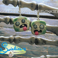 Undead Bread Dangle Earrings