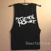 My Chemical Romance Shirt Muscle Tee Tank Top TShirt T Shirt Top Women - size S M L