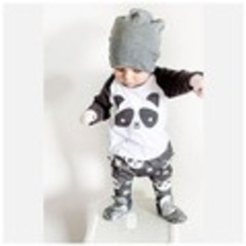 Baby boy  Long Sleeve Panda T Shirt + pants 2pc clothes set