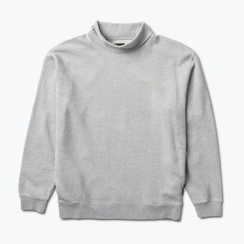 Diamond Oversized Mock Neck Sweatshirt