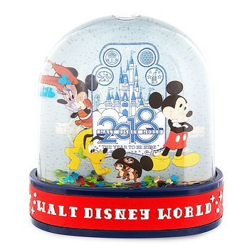 Disney Parks 2018 Walt Disney World Mickey & Friends Water Globe New