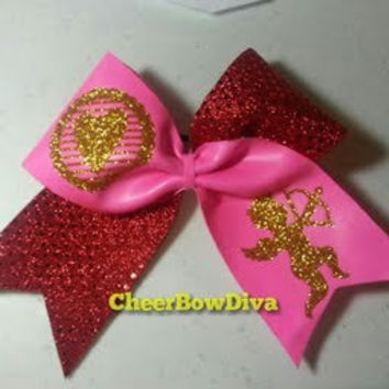 Cheer Bow Valentines by cheerbowdiva on Etsy