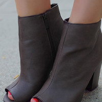 Michigan Ave Bootie - Brown
