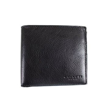 Coach Men Double Billfold Wallet In Calf Leather